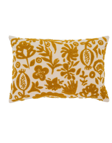 Indaba Trading Ltd New Guinea Pillow in Gold