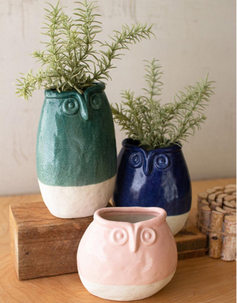 Kalalou Kalalou Ceramic Owl Planters