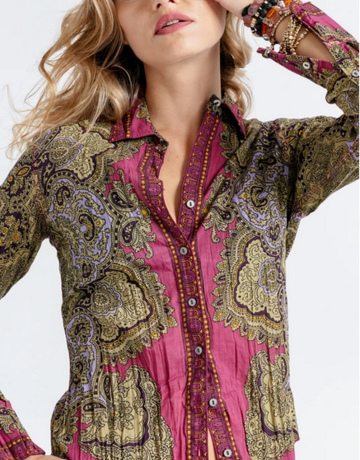 CINO Angelina Berry Paisley Top