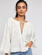 Free People Free People Sun Valley Embroidered Top