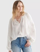 Lucky Brand Clothing Lucky Brand Cutwork Peasant Top