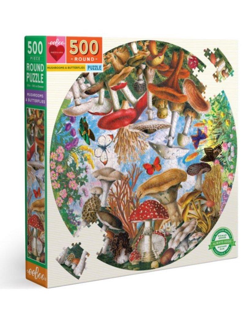 eeBoo Publishing Mushrooms & Butterflies Puzzle
