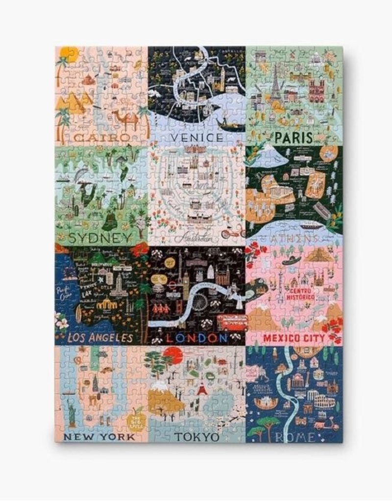 Chronicle Books Rifle Paper Co Maps Puzzle