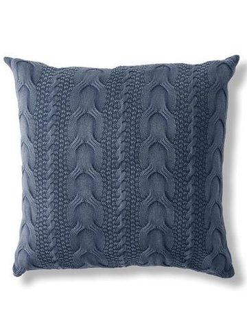 Napa Home & Garden Hollyn Cable Pillow in Blue