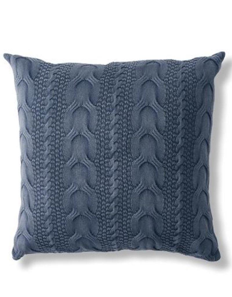 Napa Home & Garden Napa Hollyn Cable Pillow in Blue