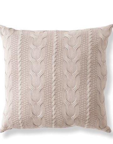 Napa Home & Garden Hollyn Cable Pillow in Cream