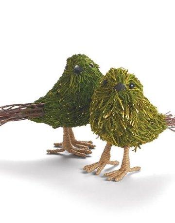 Napa Home & Garden Moss & Twig Bird Set