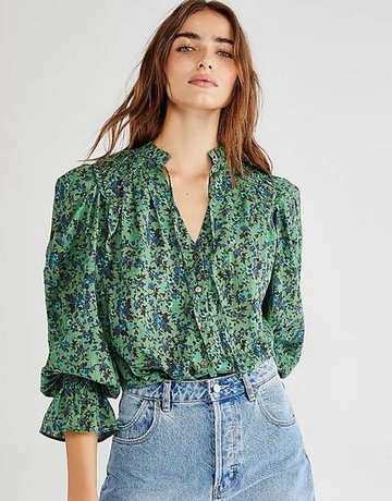 Free People Meant To Be Ruffle Top
