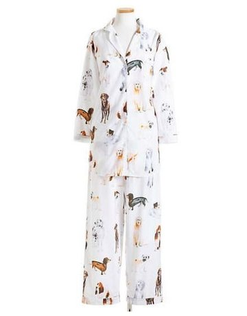 Pine Cone Hill Woof Long Pajama Set