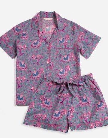 PrintFresh Flamenco Fuchsia Shorts Pajama Set