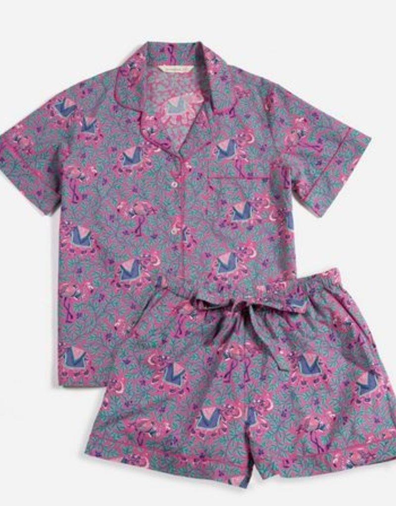 PrintFresh PrintFresh Flamenco Fuchsia Shorts PJ Set