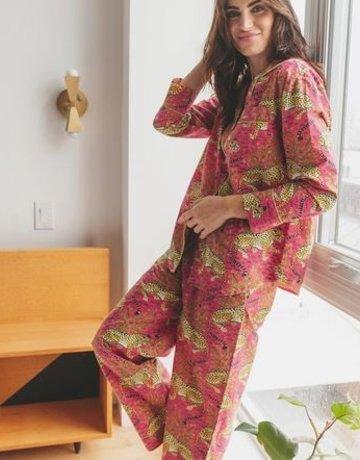 PrintFresh Bagheera Pink Long Pajama Set