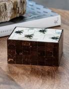 Zodax Zodax Bee Design Coconut & Bone Wood Box