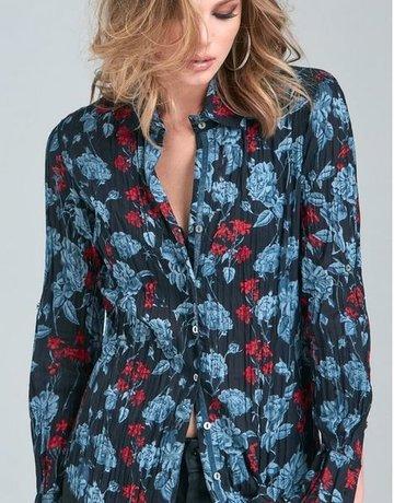 CINO Blues Floral Shirt