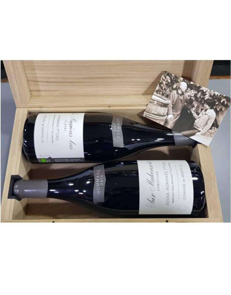 Domaine de Montille Domaine de Montille 2015 'Hubert & Christiane Les Rugiens-bas'  1er Cru: Pommard & Vosne-Romanée 'Aux Malconsorts, Bugundy France: Set of 2, 1.5L Magnum