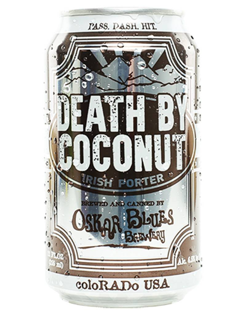 Oscar Blues Death by Coconut Irish Style Porter, 4pk