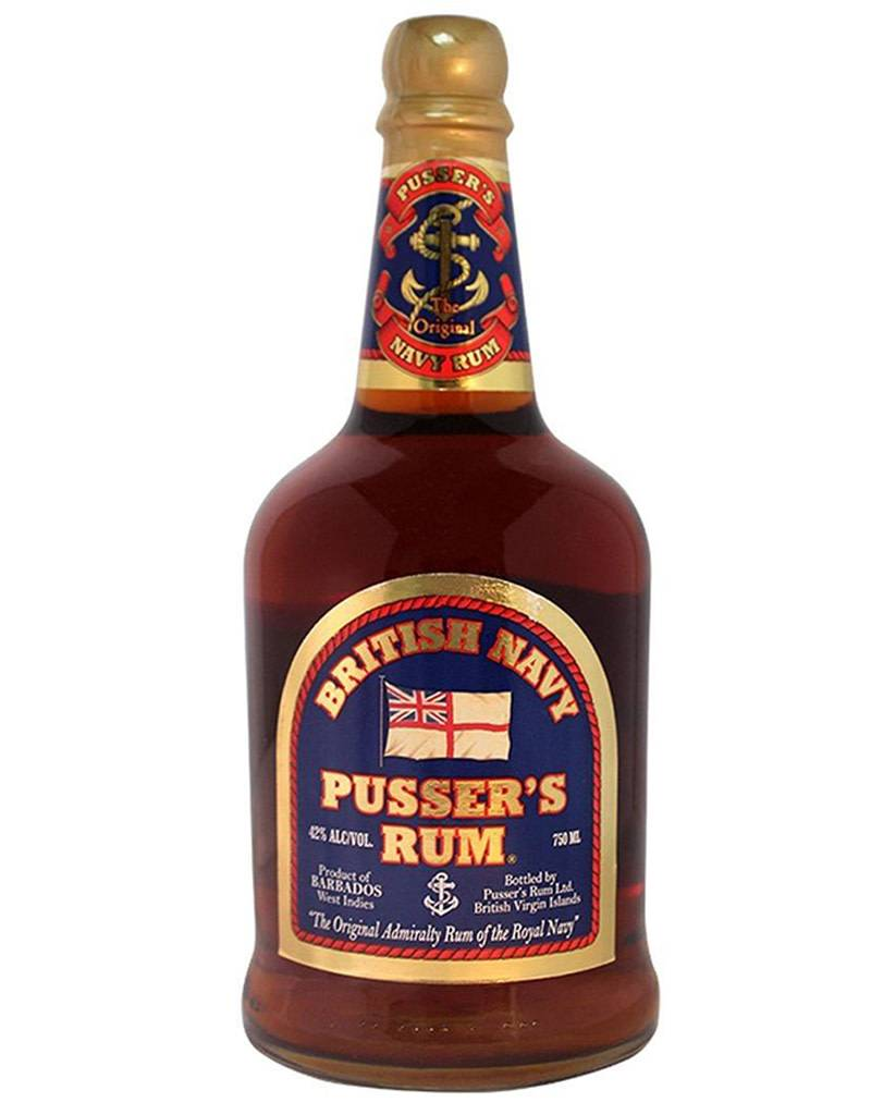 Pusser's Rum British Navy Blue Label 84 Proof