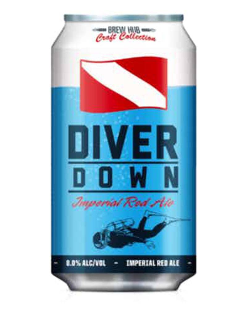 Brew Hub's Diver Down American Amber Red Ale, 6pk Beer Cans