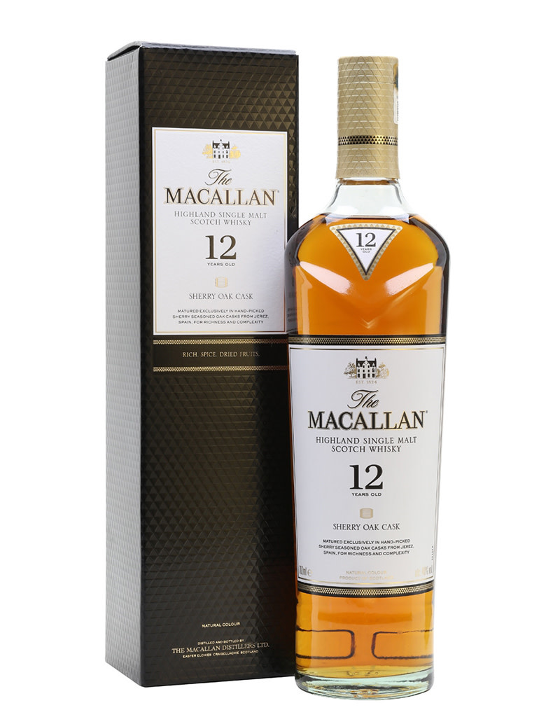 The Macallan 12 Year Sherry Cask Single Malt Scotch Whisky, Speyside