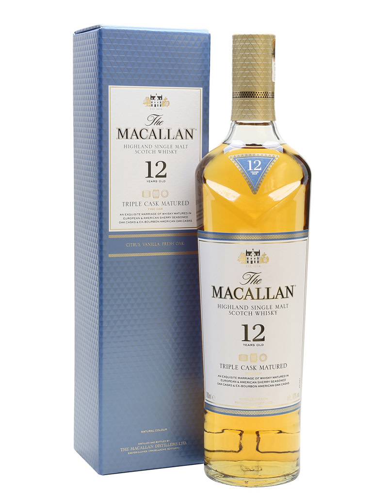 The Macallan 12 Year Old Triple Cask Matured Fine Oak Single Malt Scotch Whisky, Speyside
