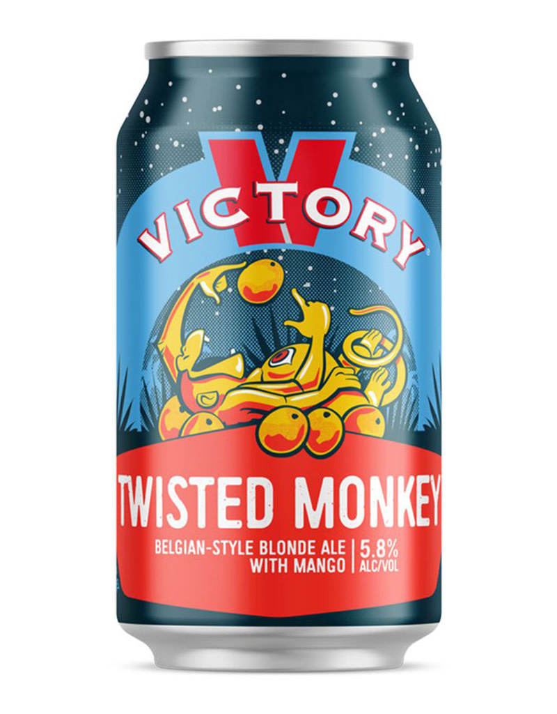 Victory Brewing Co. Twisted Monkey Belgian-Style Blond Ale with Mango, 6pk Cans