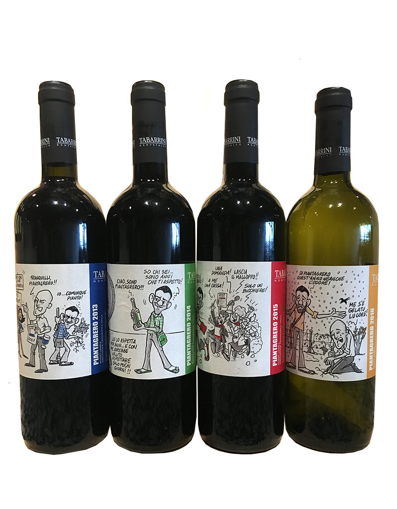 Tabarrini Piantagrero Collecction 2013, 2014, 2015, [5 bottles in a case], Umbria Italy