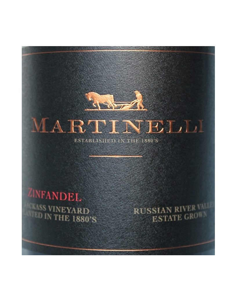 Martinelli Winery, Inc. Martinelli 2017 Jackass Vineyards Zinfandel, Russian River Valley, CA