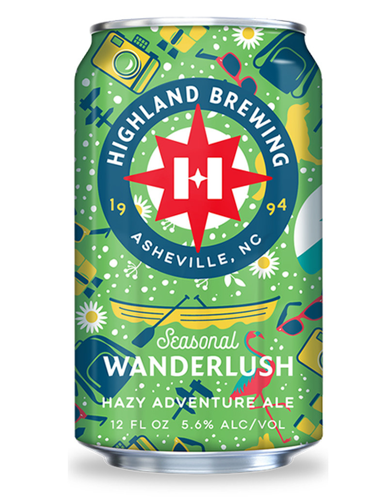 Highland Brewing Co. Seasonal Wanderlush Hazy Adventure Ale, 6pk