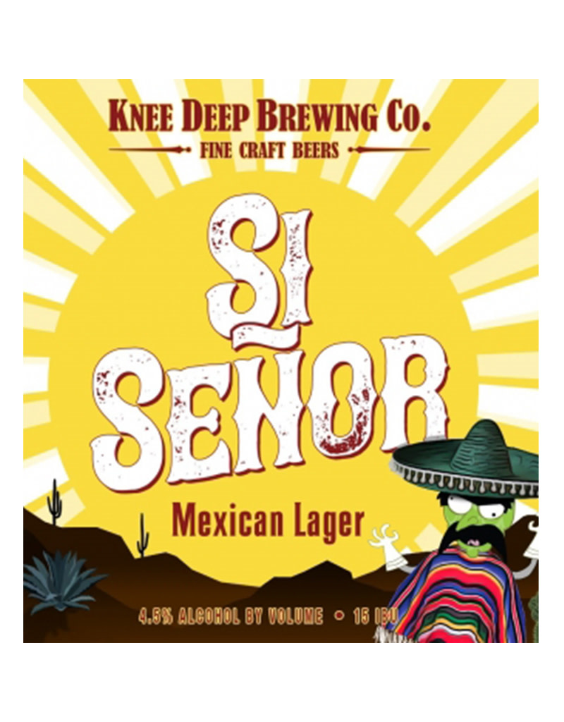 Knee Deep Brewing, Si Señor Mexican style Lager, 12 Pack Bottles