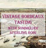 FRI 14 JUN | 100 Point Robert Parker Rated Bordeaux Tasting w. Sommelier Sterling Roig