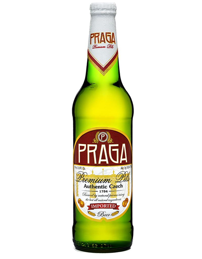 PRAGA Premium Pilsner, Authentic Czech Beer, 6pk Bottles