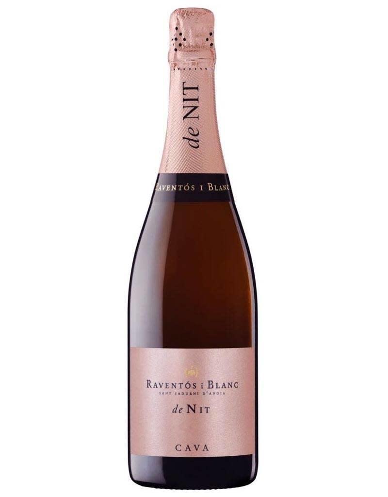 Raventos Raventos i Blanc 2016 De Nit Rosé Conca del Riu Anoia, Penedes, Spain 375mL