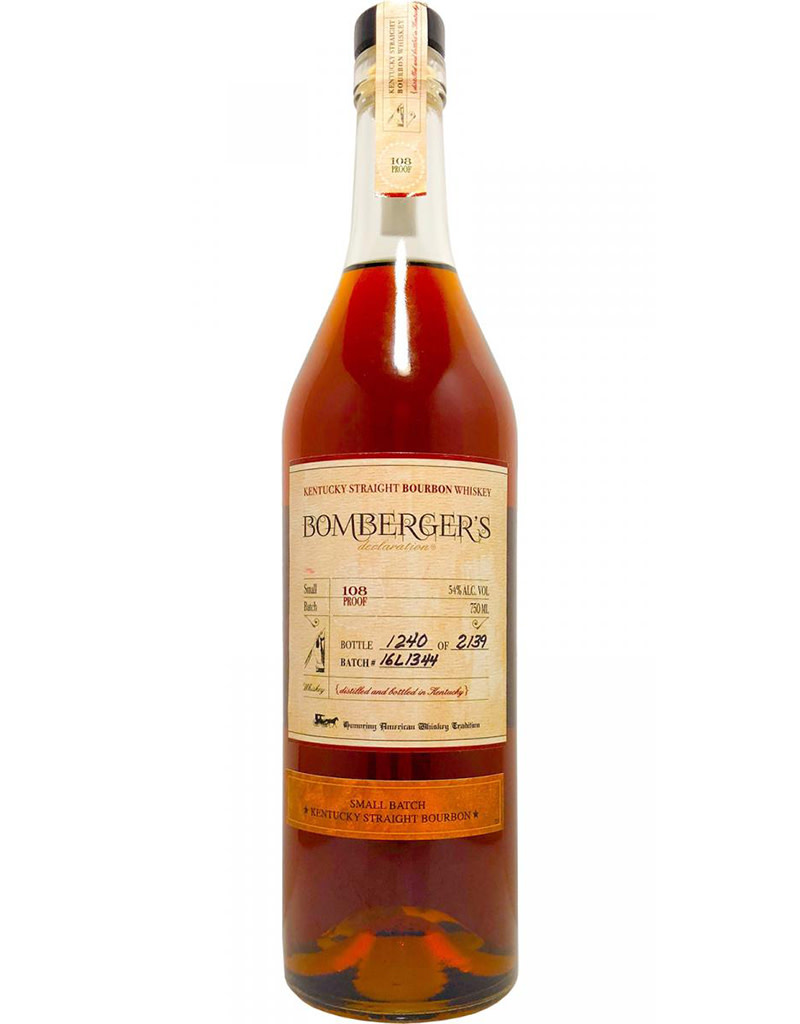 Bomberger's Declaration 2018 Small Batch Kentucky Straight Bourbon