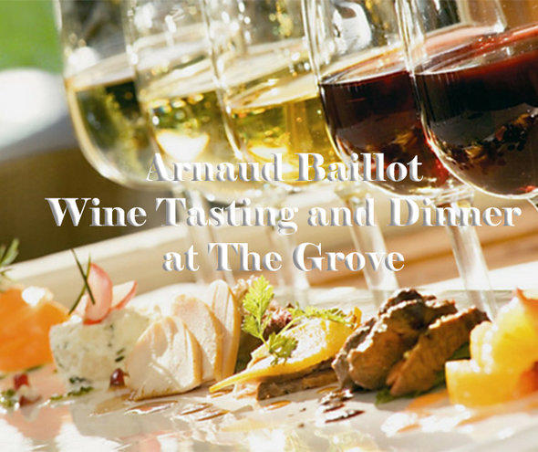 TUE 12 NOV | Arnaud Baillot Wine Tasting and Dinner at The Grove