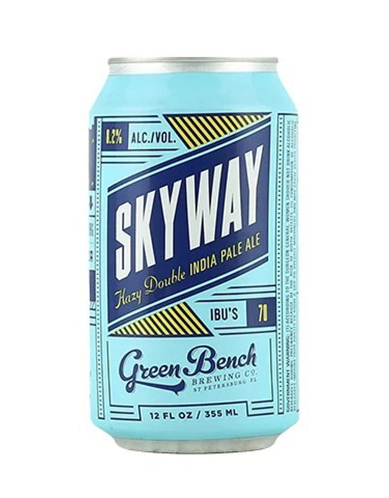 Green Bench Brewing Co. Skyway Hazy DIPA, 4pk Cans