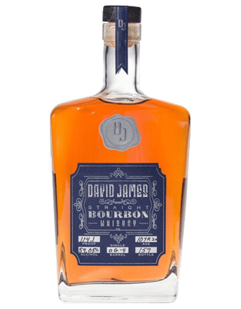 David James Straight American Bourbon Whiskey, Tennessee