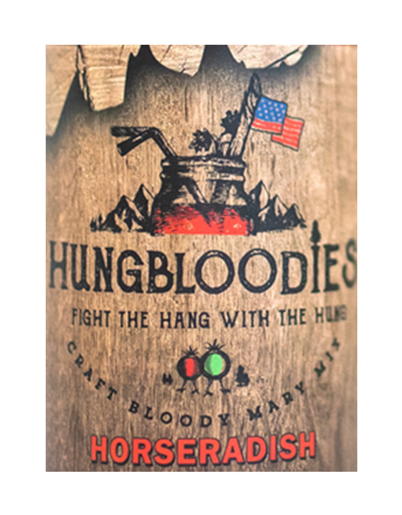 HUNGBLOODIES Horseradish Bloody Mary Mix 32oz