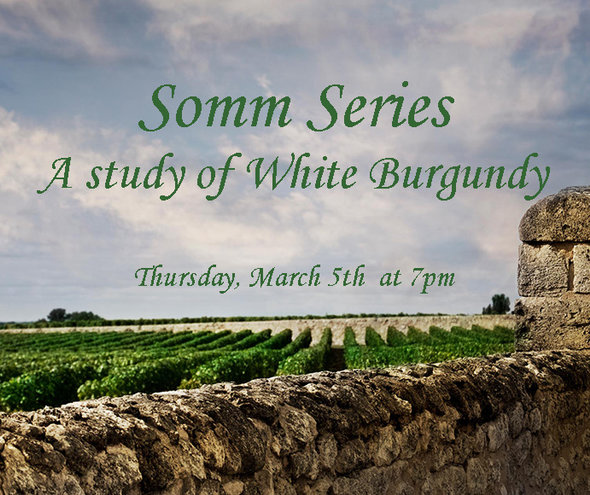 THU 5 MAR | Somm Series Tasting: A study of White Burgundy, France