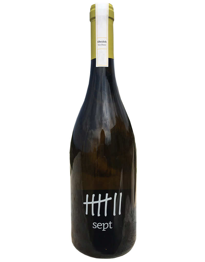 Sept Winery 2018 'Obeideh' white, Batroun, Lebanon