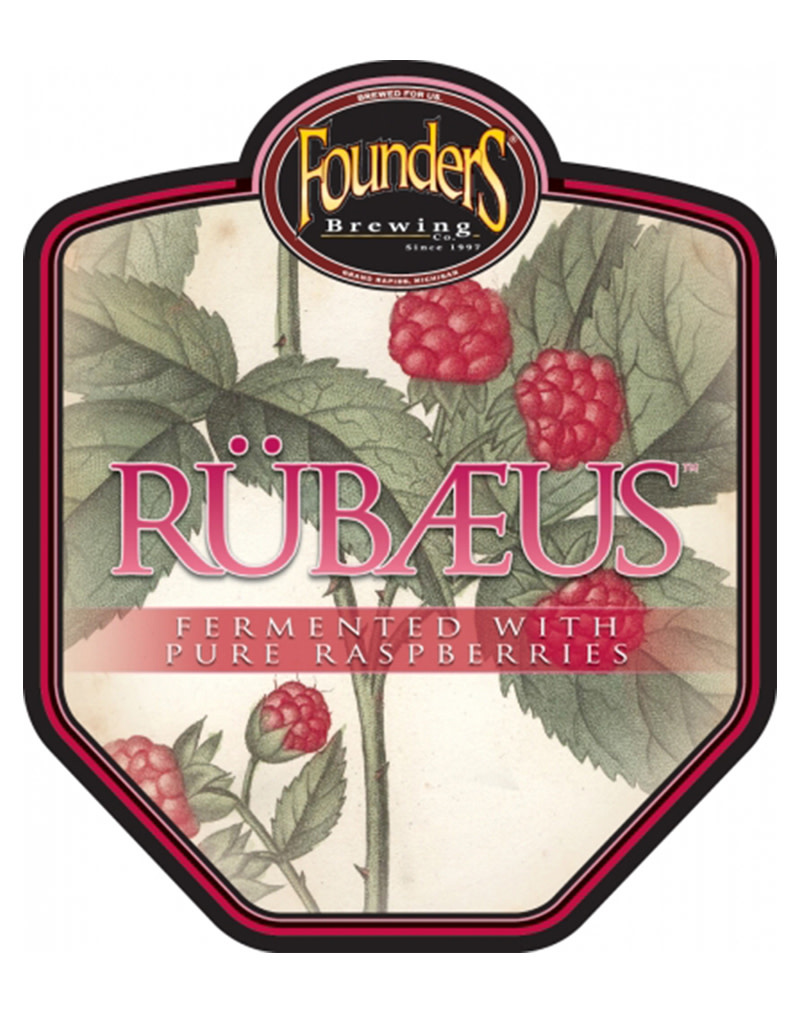 Founders Brewing Co. Rübæus, Raspberry Ale, Single Can