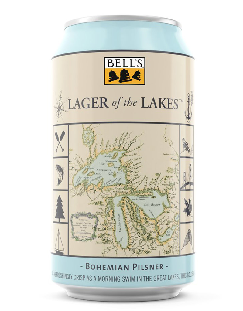 Bell's Brewery Lager of The Lakes, Bohemian Pilsner Beer, 6pk Cans