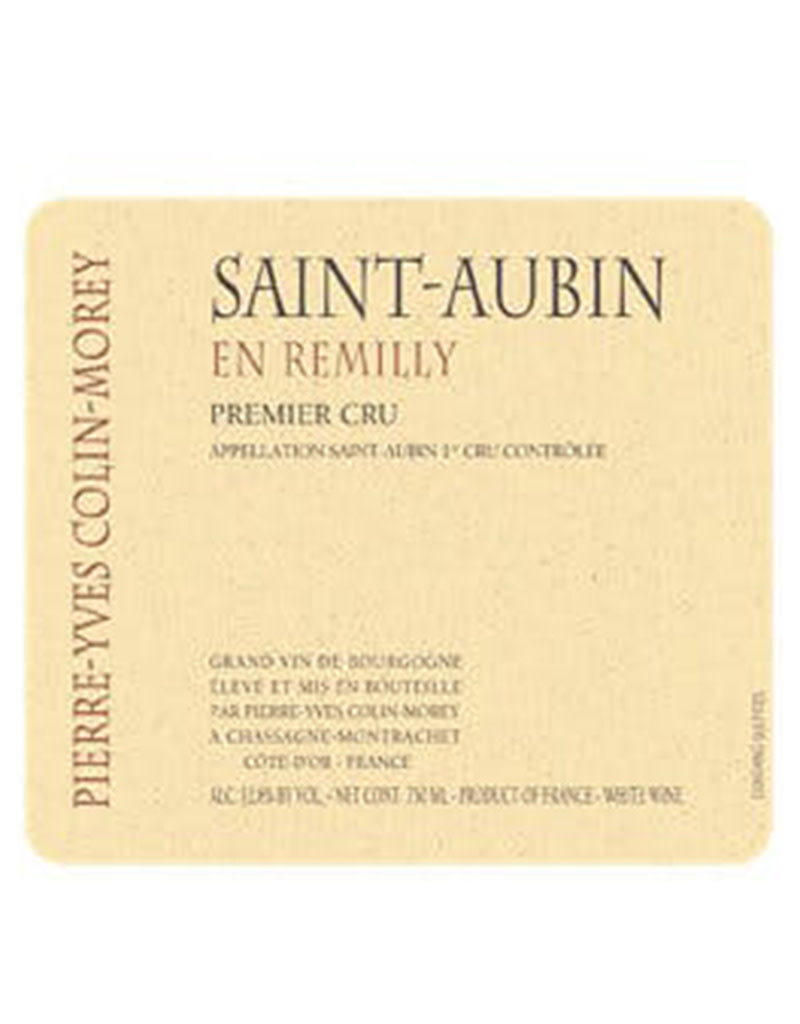 Pierre-Yves Colin-Morey 2018 Saint-Aubin 'en Remilly' Premier Cru Burgundy, France