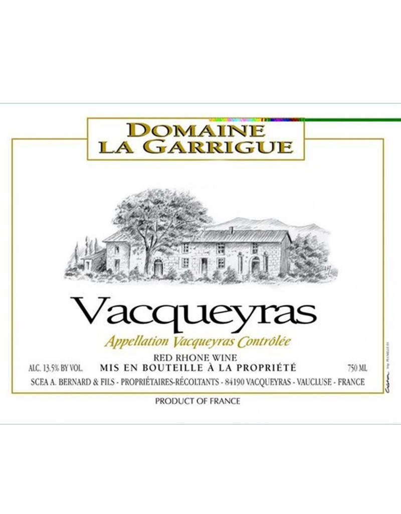 Domaine La Garrigue 2018 Vacqueyras, Rhône, France
