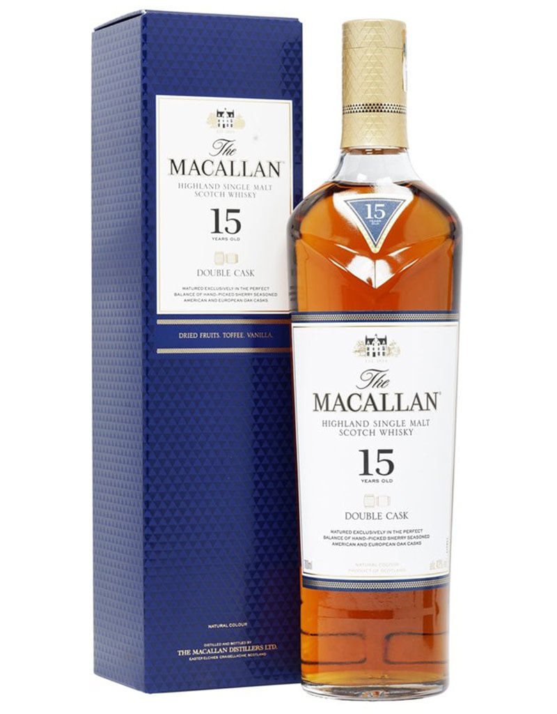The Macallan 15 Year Double Cask Scotch Whisky, Speyside, Scotland