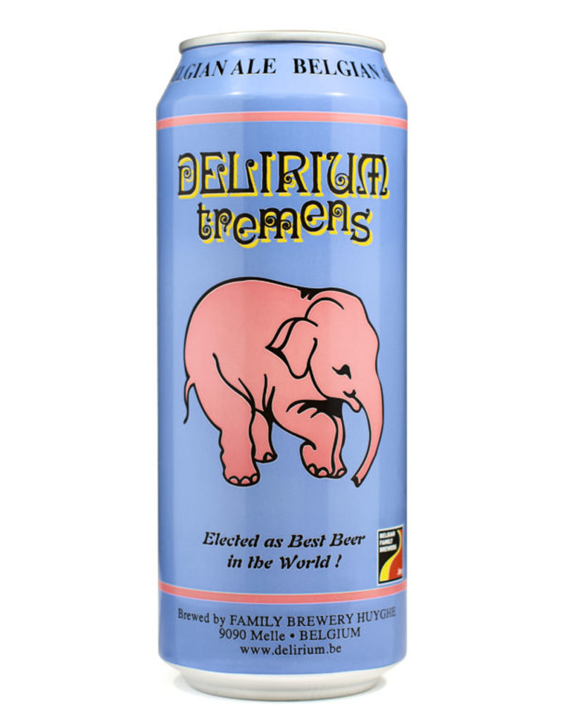 Delirium Tremens Belgian Ale 16oz, Single Beer Can