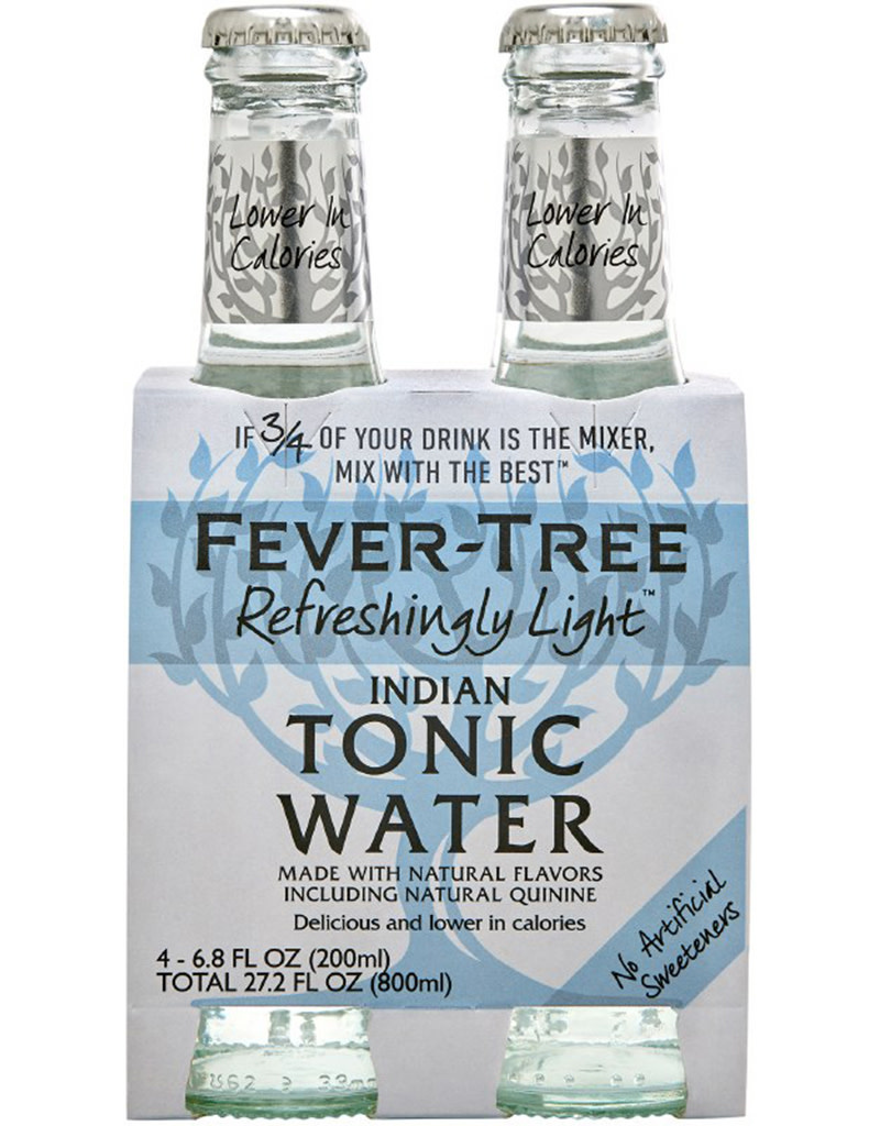 Fever Tree Light Tonic Water 200mL, 4pk