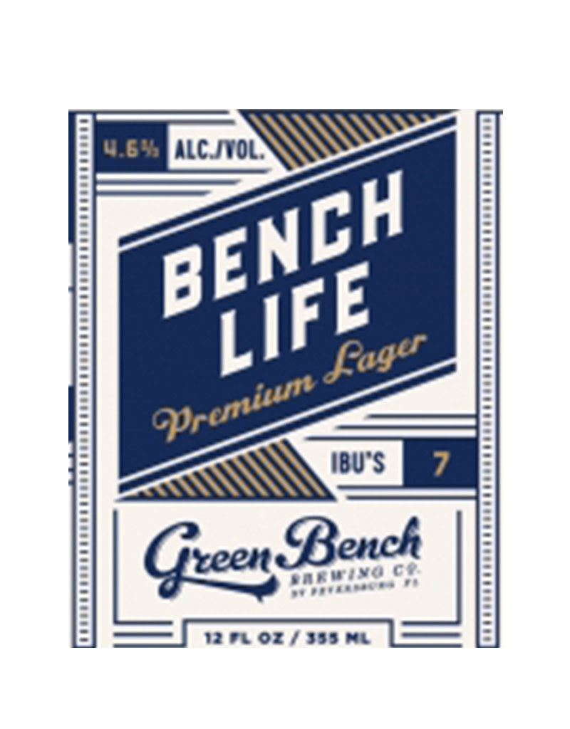Green Bench Brewing Co. Bench Life Premium Lager, 6pk Cans
