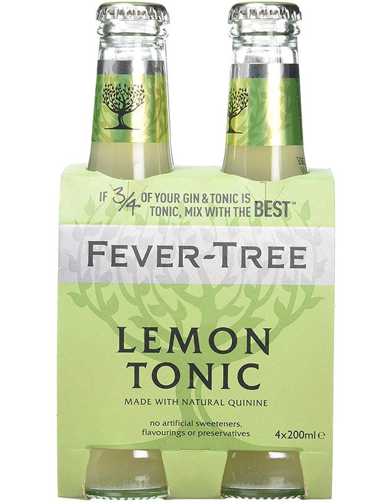 Fever Tree Lemon Tonic Water 200mL, 4pk