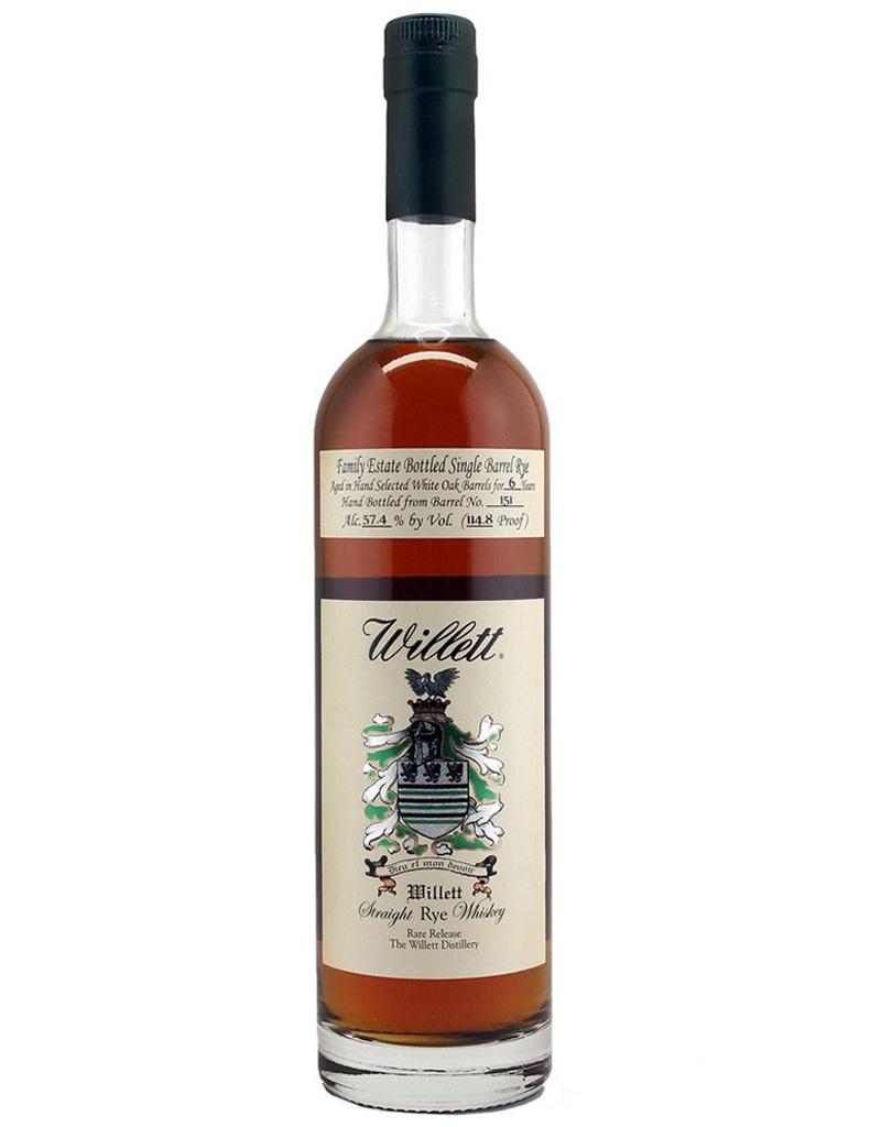 Willett Distillery Straight Rye Rare Release 6 Year Whiskey, Kentucky