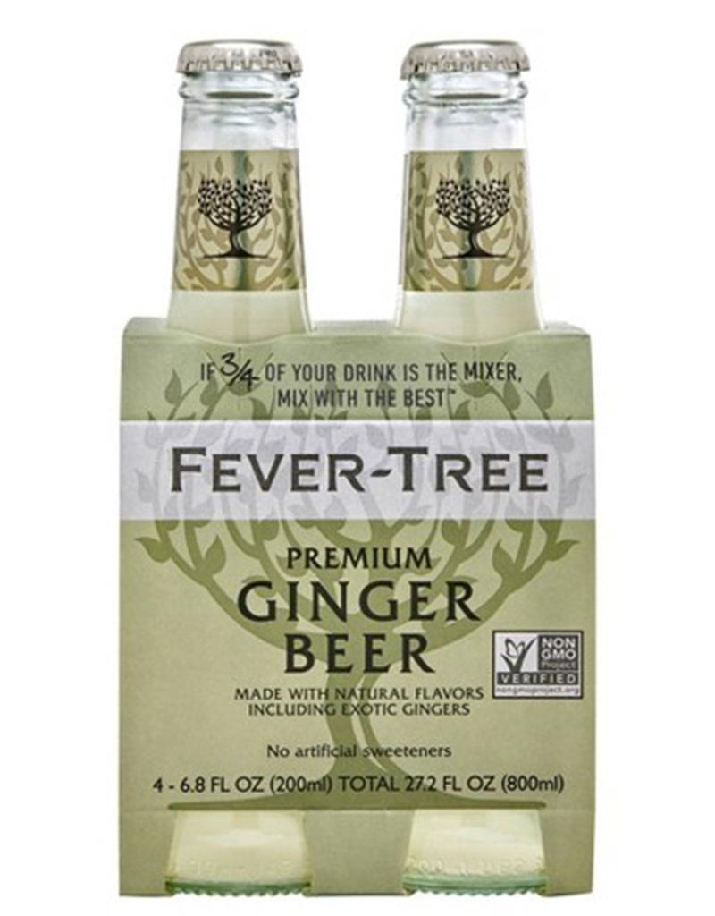 Fever Tree Ginger Beer 200mL, 4pk